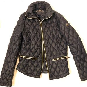 Michael Kors dark navy puffer jacket. Size S.